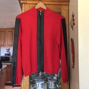 90's style zip up cardigan